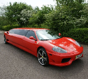 Ferrari Limo in Sutton in Ashfield