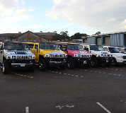Jeep Limos and 4x4 Limos in Bucks